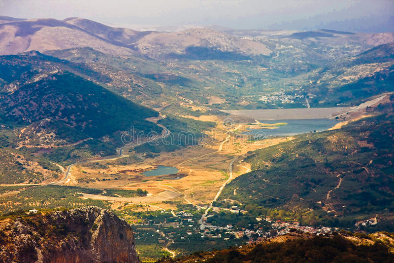 Het eiland van Kreta van het Lassithiplateau, Griekenland royalty-vrije stock foto's
