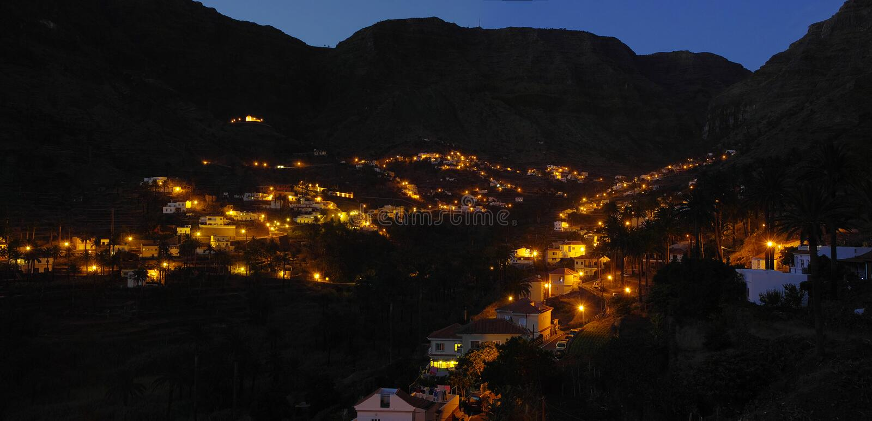 Het Eiland van La Gomera De Valle Gran Rey stock foto's