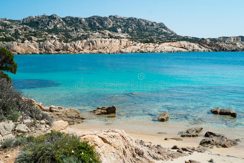 Het eiland van La Maddalena, Sardinige, Italië stock afbeeldingen