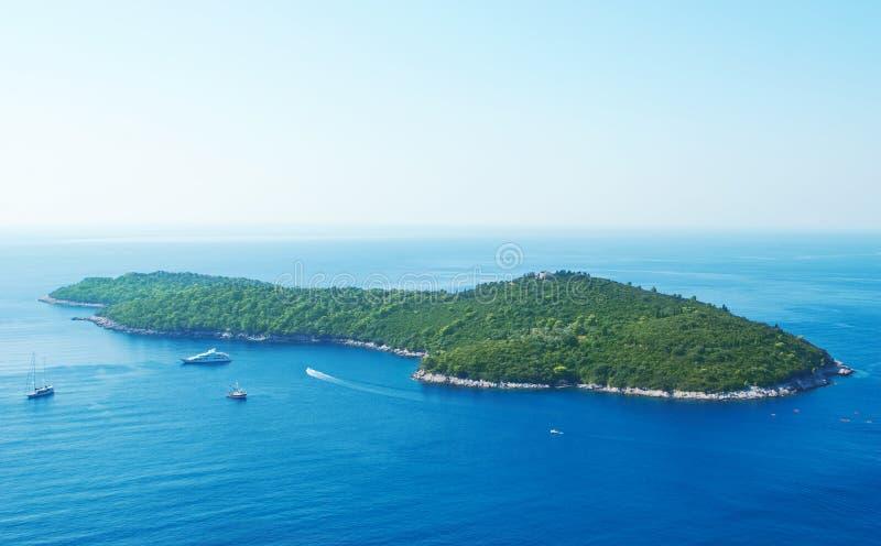 Het Eiland van Lokrum - Dubrovnik, Kroatië stock foto