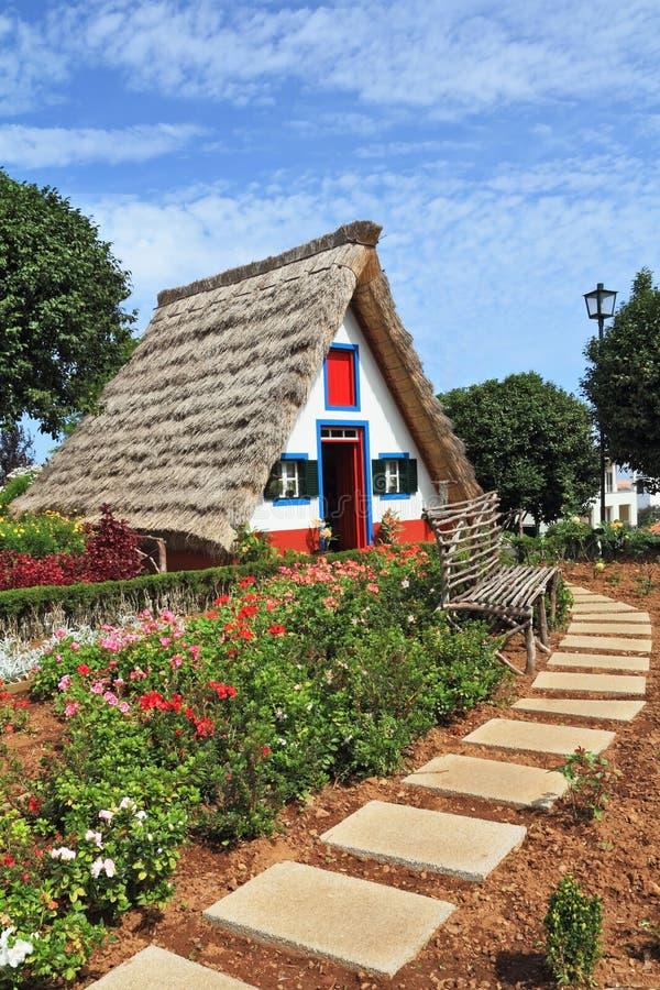 Het Eiland van madera, de stad Santana stock foto