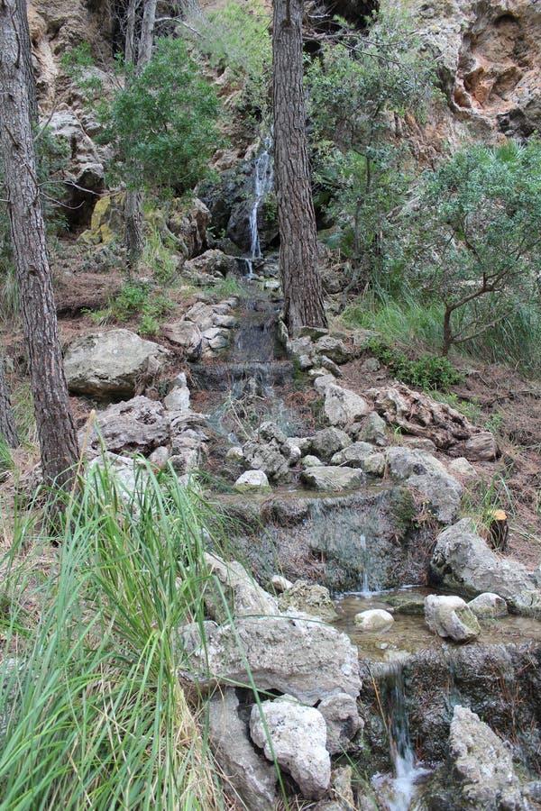 Het eiland van Mallorca Waterval royalty-vrije stock afbeelding