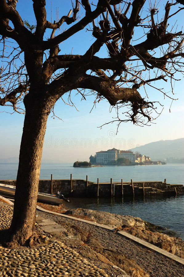 Het eiland van meren stock foto