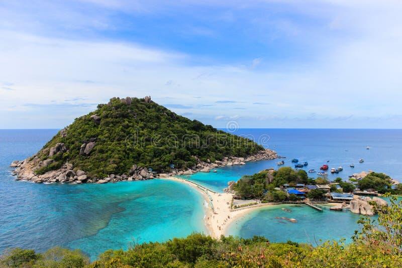 Het eiland van Nangyuans - Paradijs in Thailand royalty-vrije stock afbeelding