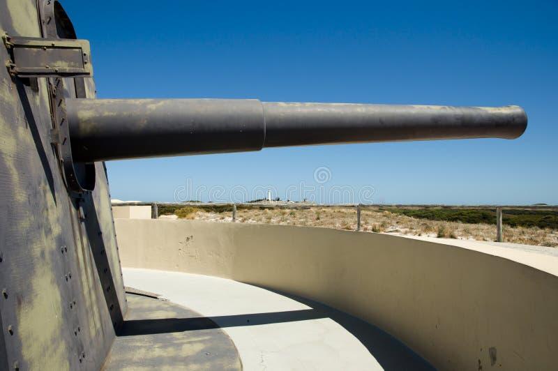 Het Eiland van Oliver Hill Battery - Rottnest- stock foto's