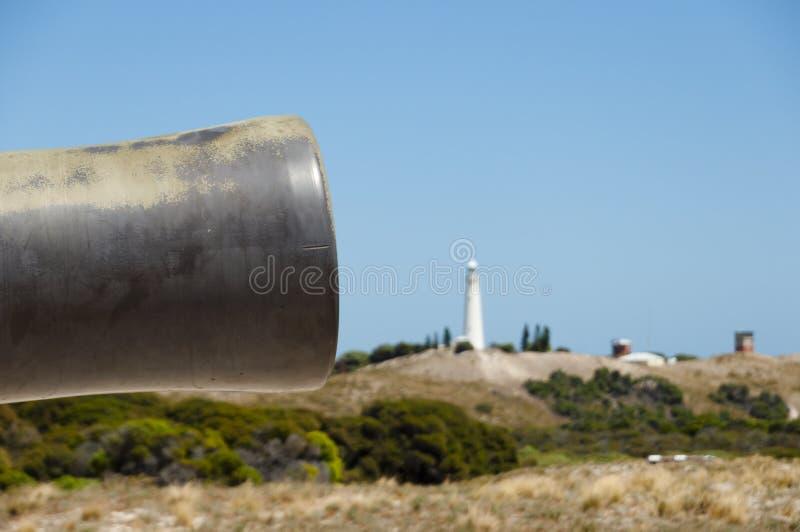 Het Eiland van Oliver Hill Battery - Rottnest- royalty-vrije stock foto's