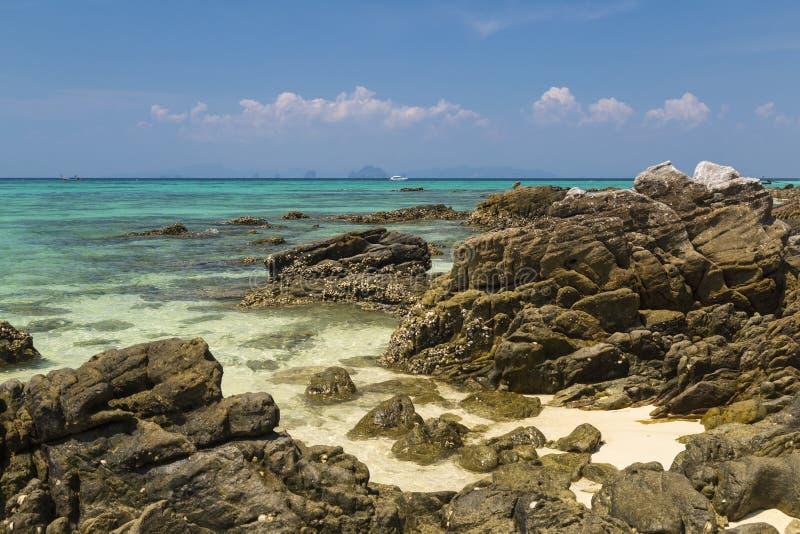 Het eiland van het paradijs Bamboeeiland Ko Phi Phi Don thailand stock foto