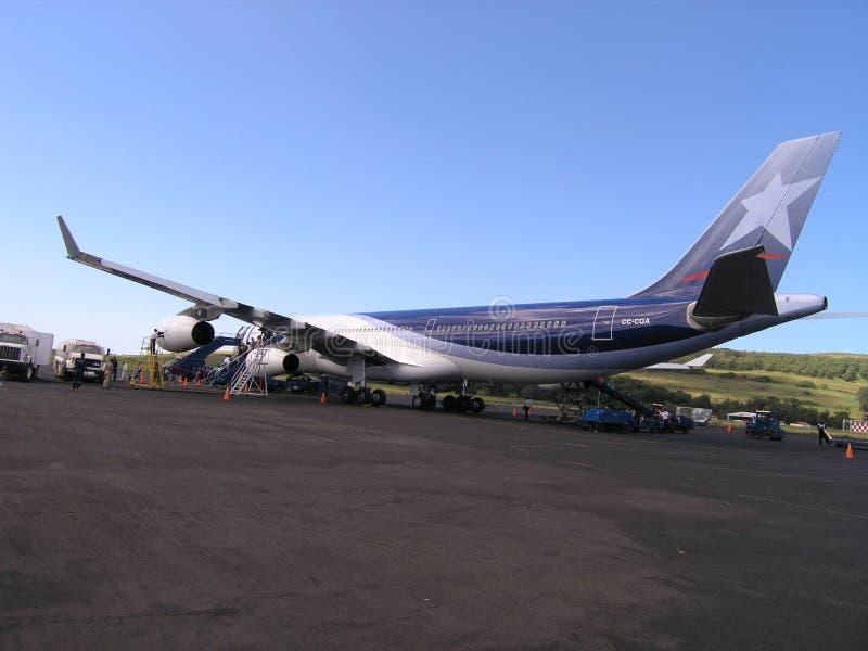 Het Eiland van Pasen - Luchthaven Mataveri royalty-vrije stock foto's