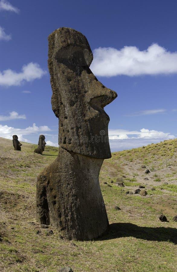 Het Eiland van Pasen - Moai - Stille Zuidzee royalty-vrije stock afbeeldingen
