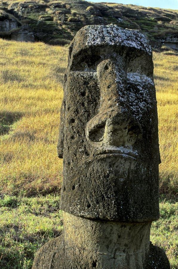 Het Eiland van Pasen van Moais-, Chili stock fotografie