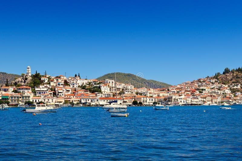 Het eiland van Poros, Griekenland royalty-vrije stock fotografie