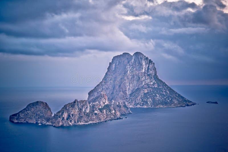 Het eiland van S Vedra, Ibiza stock afbeeldingen