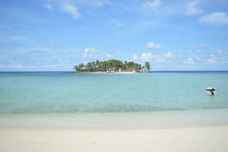 Het Eiland van Sambergelap, Kotabaru, Zuid-Borneo, Indonesië royalty-vrije stock foto