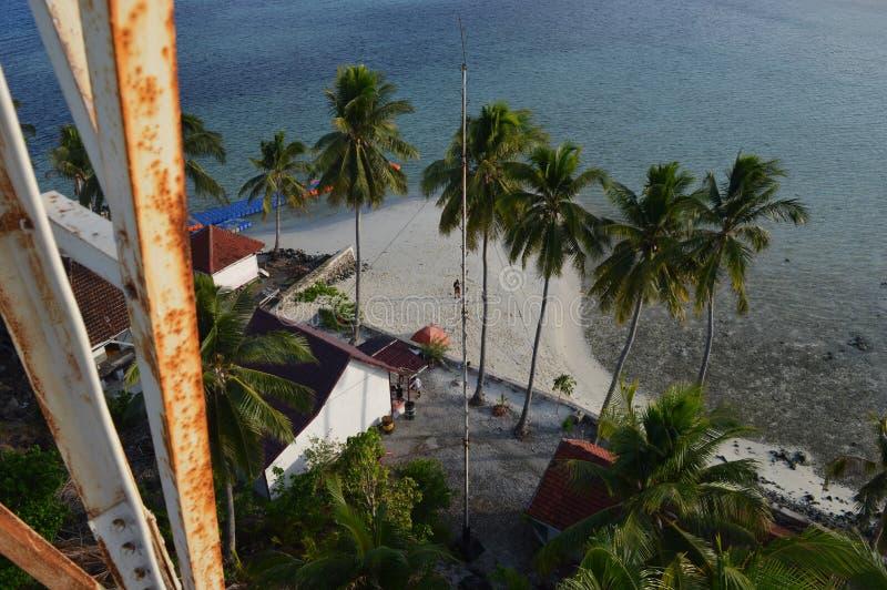 Het Eiland van Sambergelap, Kotabaru, Zuid-Borneo, Indonesië stock foto's