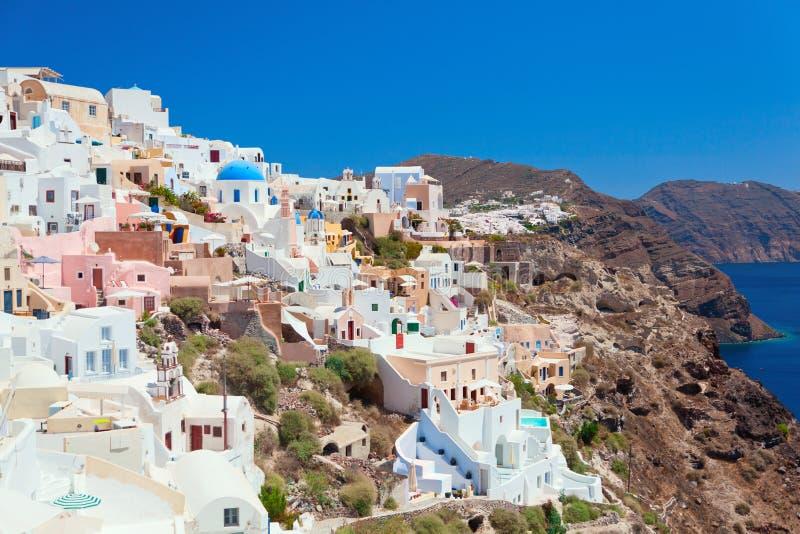 Het eiland van Santorini stock foto