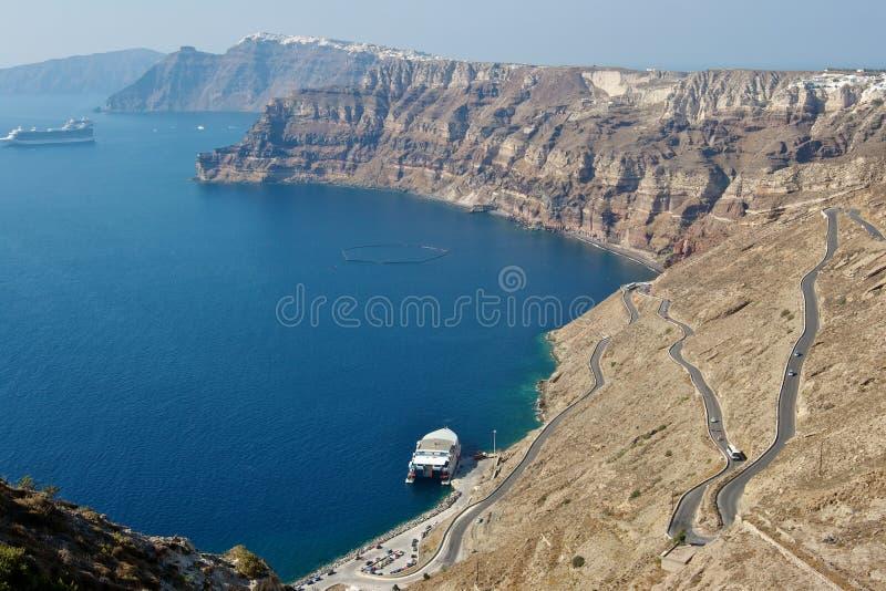 Het eiland van Santorini. Griekenland royalty-vrije stock afbeelding