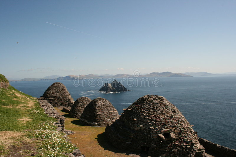 Het Eiland van Skellig in Kerry Ierland stock foto's