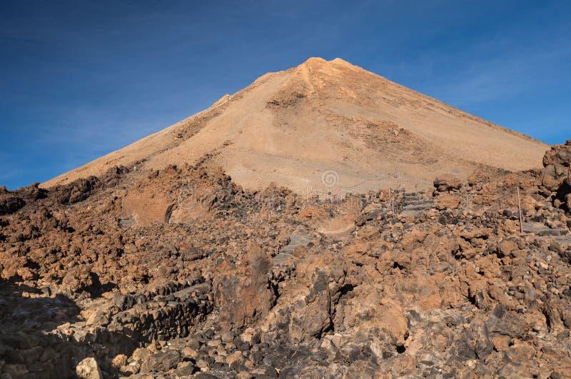 Het eiland van Tenerife van de Teidevulkaan stock afbeelding