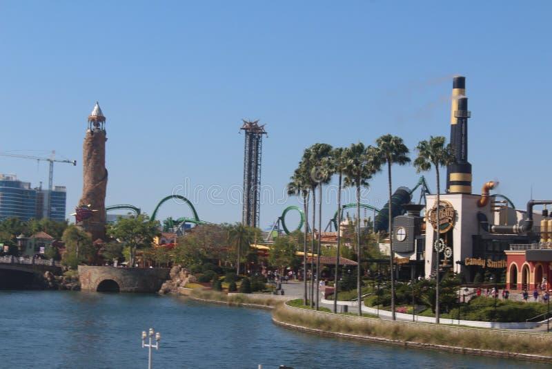 Het Eiland van het themapark van Avontuur in Orlando, Florida stock afbeeldingen