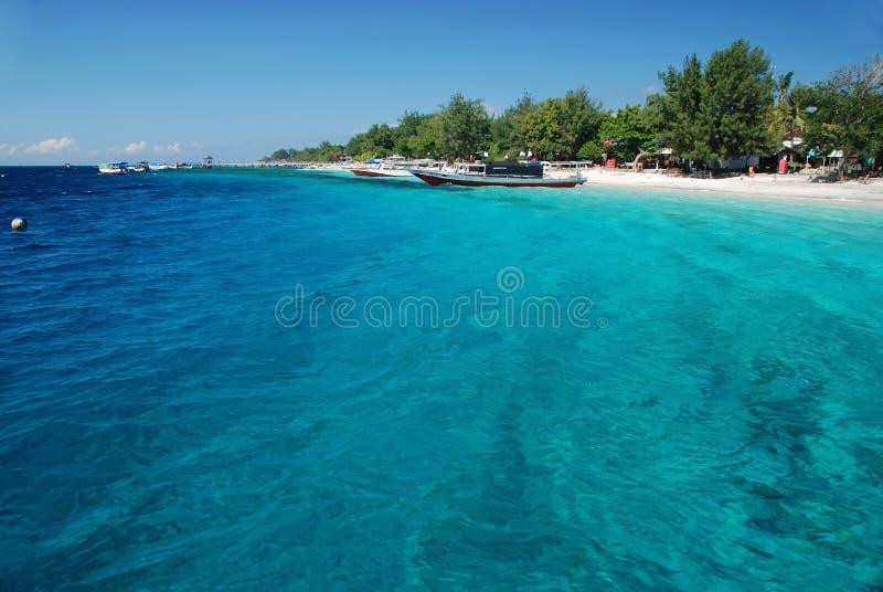 Het eiland van Trawangan van Gili stock afbeeldingen