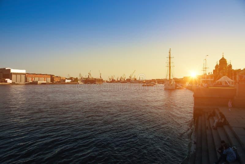 Het eiland van Vasilievsky stock foto's