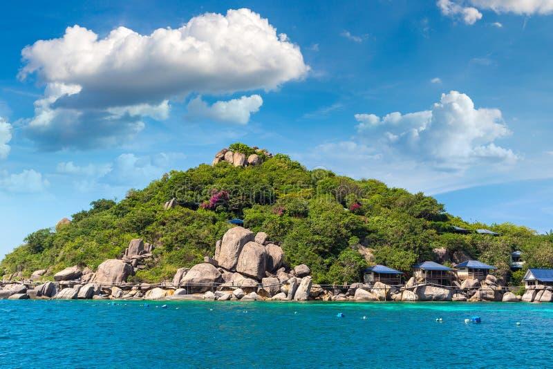 Het Eiland van Yuan van Nang, Koh Tao, Thailand royalty-vrije stock fotografie