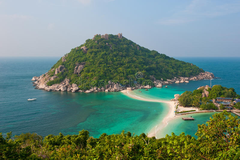 Het Eiland van Yuan van Nang, Koh Tao, Thailand stock foto