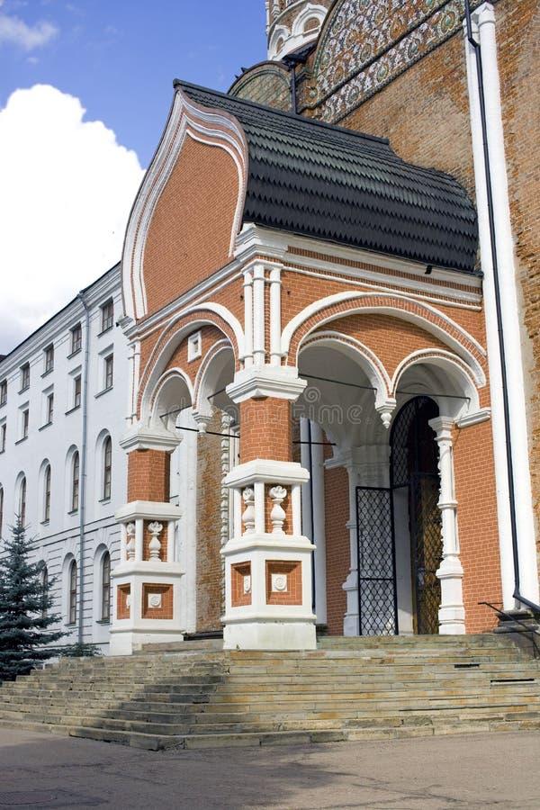 Het eilandkathedraal van Moskou Izmailovsky van de Vergine Santa royalty-vrije stock afbeelding