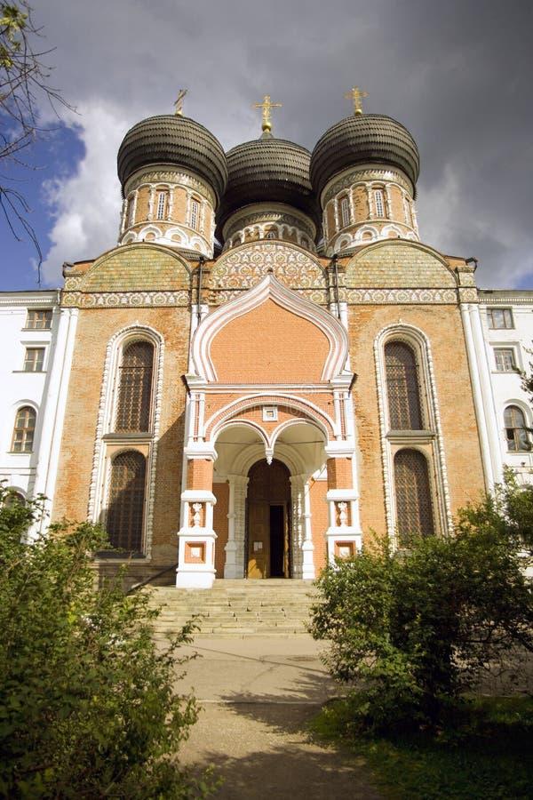 Het eilandkathedraal van Moskou Izmailovsky van de Vergine Santa stock fotografie