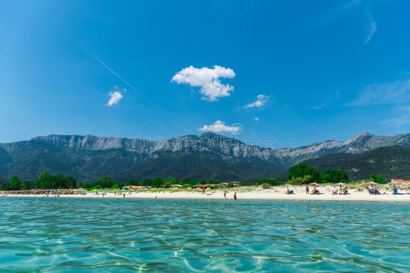 Het eilandmening van landschapsthassos, Griekenland royalty-vrije stock afbeelding