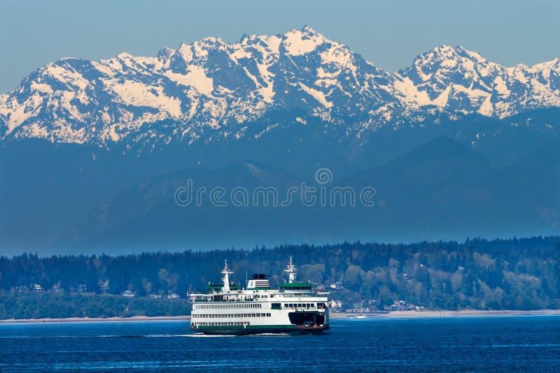 Het Eilandveerboot Puget Sound Washington van Seattle Bainbridge royalty-vrije stock foto's