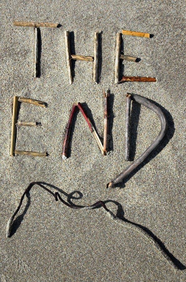 Het eind stock afbeelding