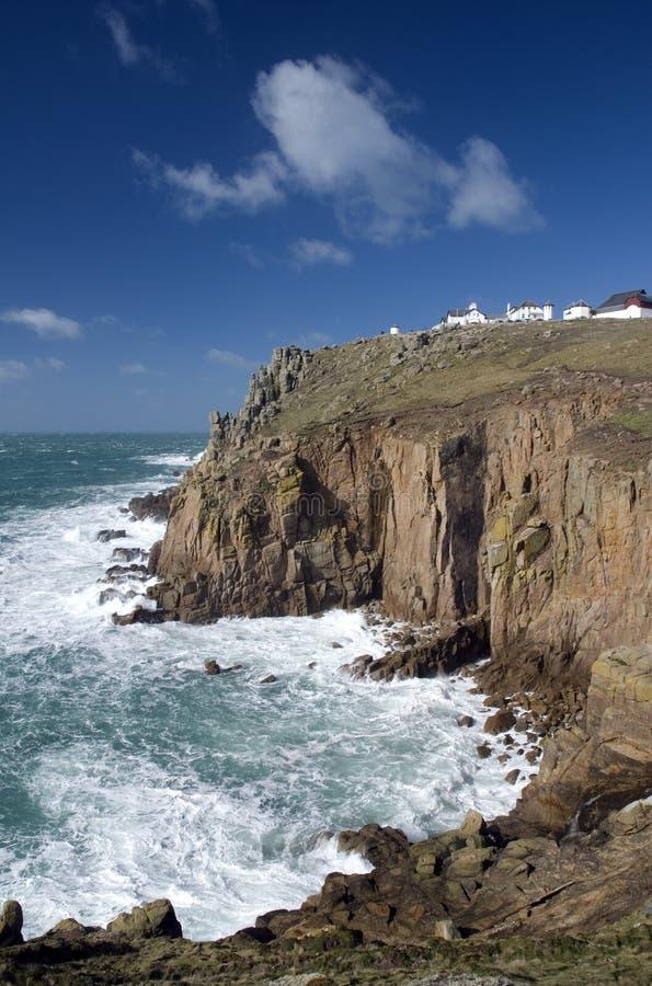 Het eind van het land, Cornwall. Engeland royalty-vrije stock foto