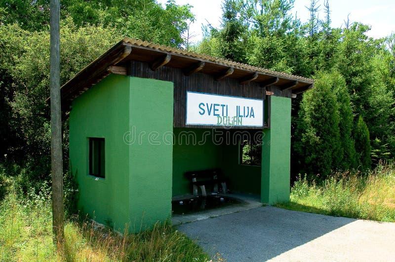 Het einde van het station in Kroatië royalty-vrije stock fotografie