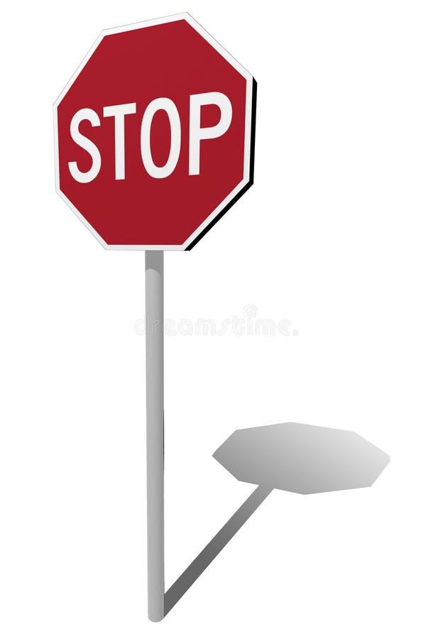 Het einde van verkeersteken vector illustratie