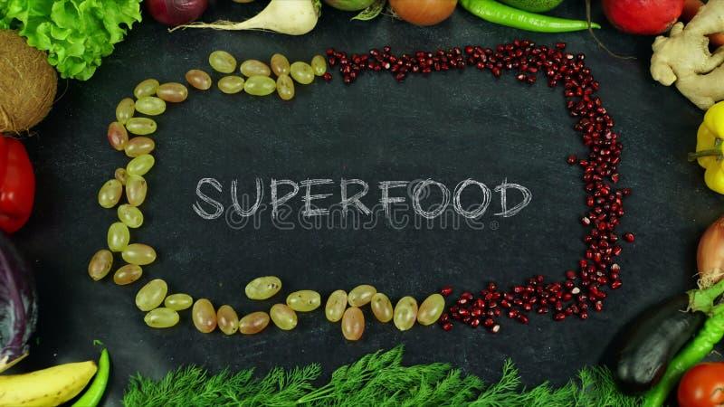 Het eindemotie van het Superfoodfruit royalty-vrije stock afbeelding