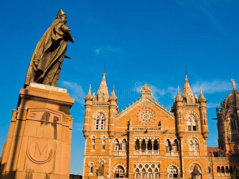 Het Eindpunt van Victoria in Mumbai royalty-vrije stock foto's