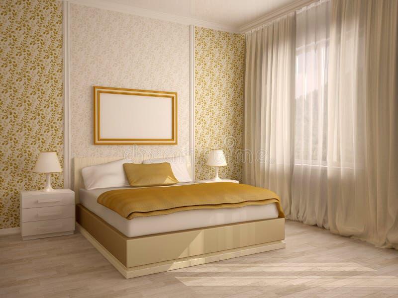 Het elegante binnenland van de huisslaapkamer vector illustratie