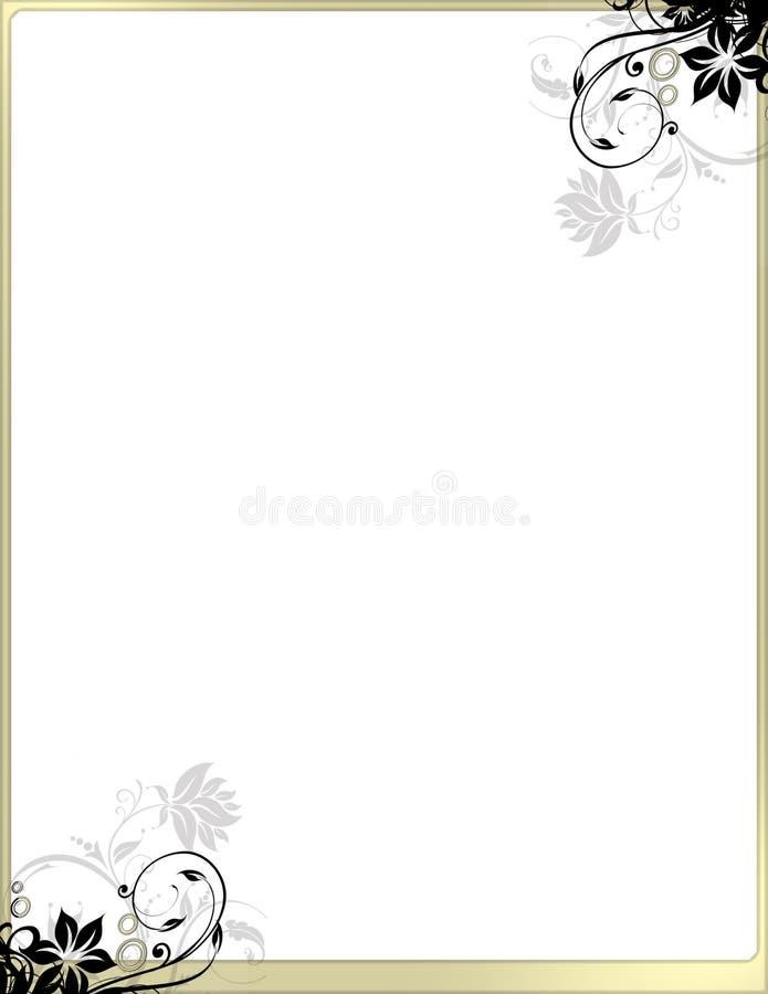 Het elegante BloemenMalplaatje van de Grens van de Pagina geen kopbal stock illustratie
