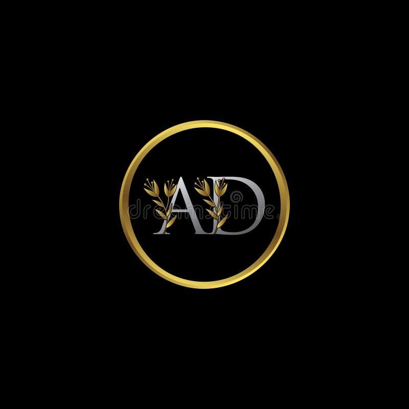 Het elegante Gouden Embleem van de ADVERTENTIEbrief royalty-vrije illustratie