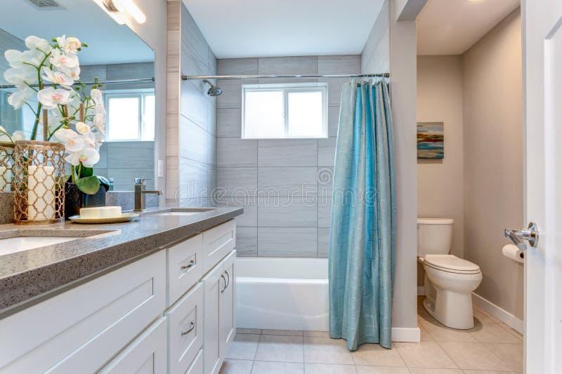 Het elegante warme ontwerp van de kleurenbadkamers royalty-vrije stock afbeeldingen