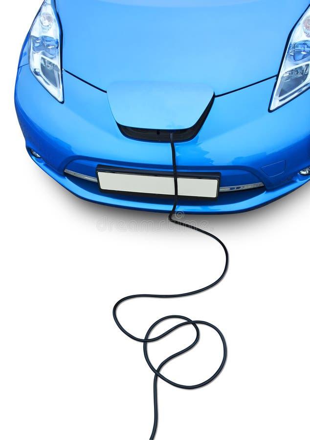 Het elektrische auto laden stock afbeeldingen