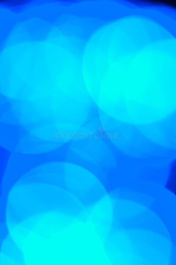 Het elektrische blauw defocused lichten stock fotografie