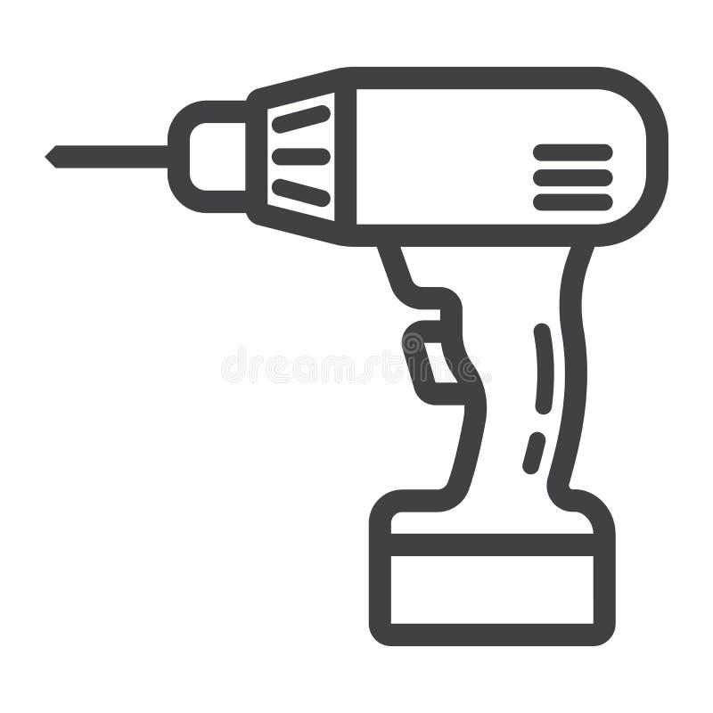 Het elektrische pictogram van de Boorlijn, bouwt en herstelt, vector illustratie