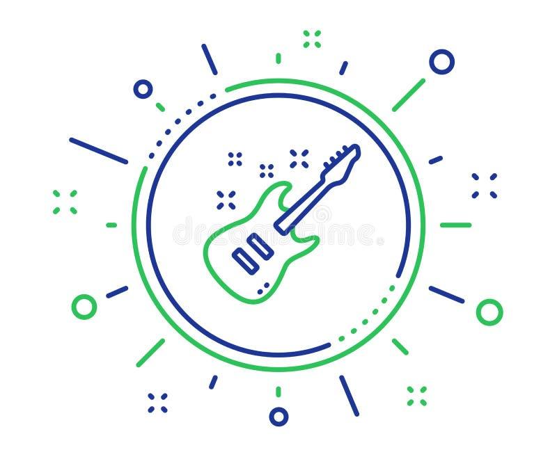 Het elektrische pictogram van de gitaarlijn Muziekteken Vector stock illustratie