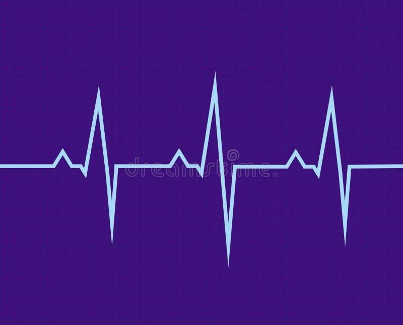 Het elektrocardiogram stock fotografie