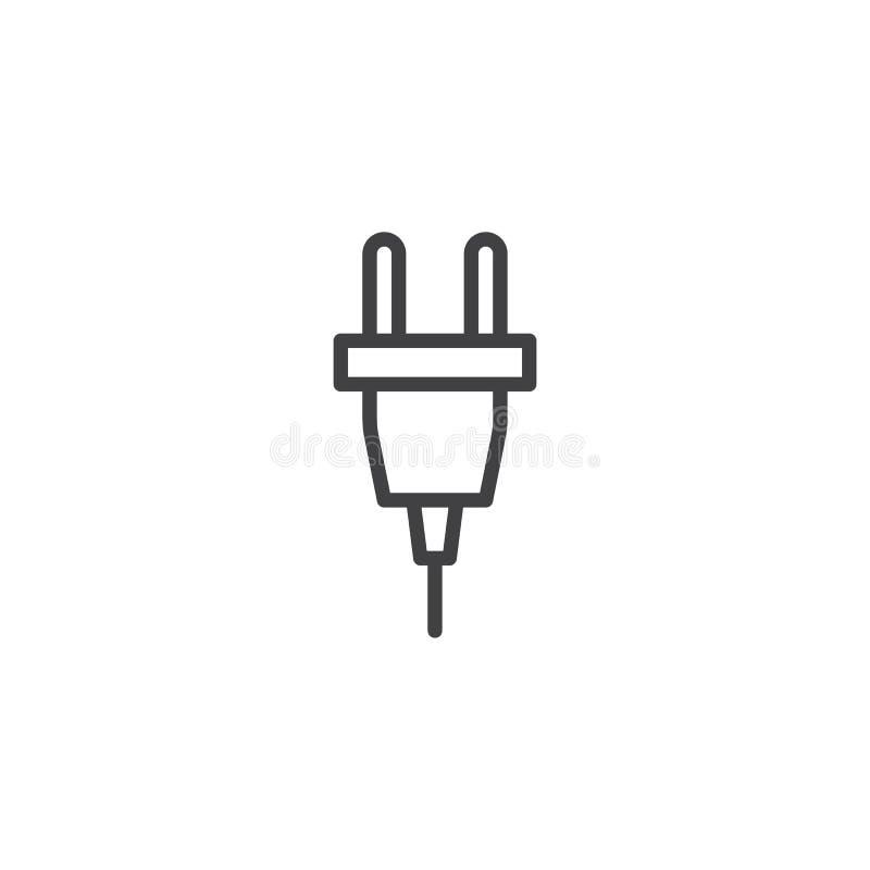 Het elektropictogram van de stoplijn vector illustratie