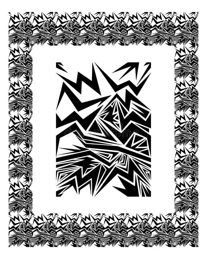 Het element & de grens van het ontwerp vector illustratie