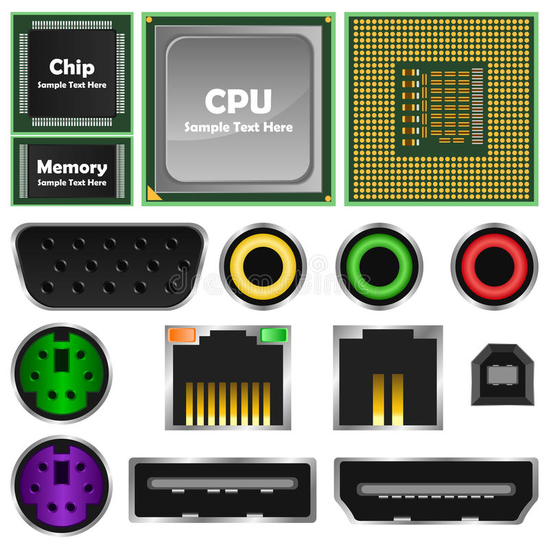 Het element van de computer stock illustratie