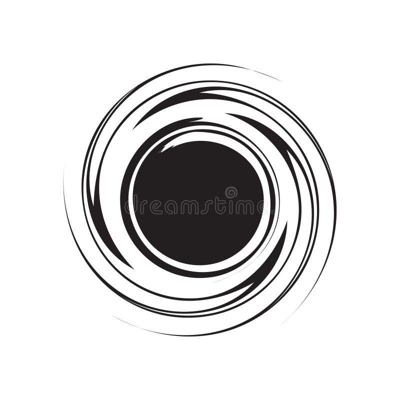 Het element van de draaikolkcirkel grunge voor ontwerp Vector illustratie stock illustratie
